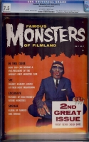 Famous Monsters of Filmland #2 CGC 7.5 ow/w