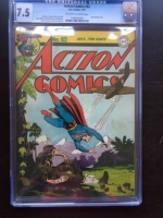 Action Comics #62 CGC 7.5 ow/w