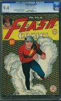 Flash Comics #26 CGC 9.4 ow/w