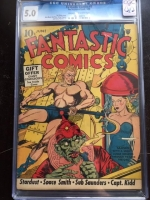 Fantastic Comics #7 CGC 5.0 cr/ow