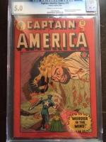Captain America Comics #72 CGC 5.0 cr/ow