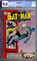 Batman #168 CGC 9.0 ow/w