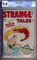 Strange Tales #107 CGC 9.4 ow/w