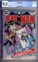 Batman #251 CGC 9.2 ow/w