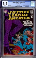 Justice League of America #75 CGC 9.2 w