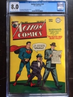 Action Comics #100 CGC 8.0 ow/w
