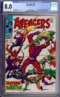 Avengers #55 CGC 8.0 ow/w
