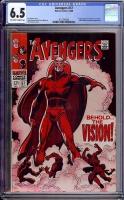 Avengers #57 CGC 6.5 ow/w