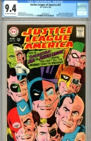 Justice League of America #61 CGC 9.4 ow/w