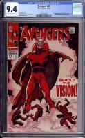 Avengers #57 CGC 9.4 cr/ow