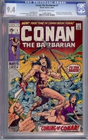 Conan The Barbarian #1 CGC 9.4 ow/w