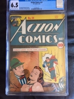 Action Comics #24 CGC 6.5 cr/ow