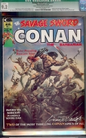 Savage Sword of Conan #1 CGC 9.2 ow/w