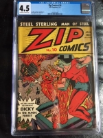 Zip Comics #10 CGC 4.5 ow/w