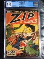 Zip Comics #16 CGC 1.0 cr/ow