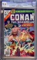 Conan the Barbarian Annual #3 CGC 9.6 w Don Rosa Collection