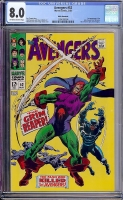 Avengers #52 CGC 8.0 ow/w White Mountain