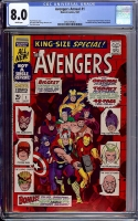 Avengers Annual #1 CGC 8.0 w