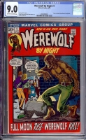 Werewolf By Night #1 CGC 9.0 ow/w