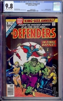Defenders Annual #1 CGC 9.8 ow/w