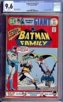 Batman Family #1 CGC 9.6 w