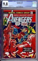 Avengers #112 CGC 9.8 ow/w