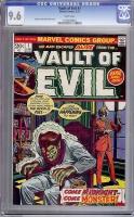 Vault of Evil #1 CGC 9.6 w