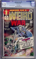 Weird War Tales #1 CGC 9.2 ow