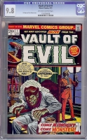 Vault of Evil #1 CGC 9.8 ow/w