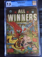 All Winners Comics #5 CGC 7.5 cr/ow