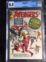 Avengers #6 CGC 8.0 ow/w