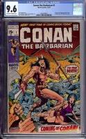 Conan The Barbarian #1 CGC 9.6 ow/w