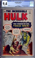 Incredible Hulk #2 CGC 9.4 w