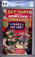 Sgt. Fury and His Howling Commandos #6 CGC 9.4 ow/w