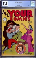 All Your Comics #1 CGC 7.5 ow/w