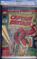 Captain Britain #8 CGC 9.8 ow/w