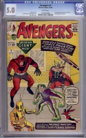 Avengers #2 CGC 5.0 w