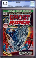 Ghost Rider #1 CGC 8.0 cr/ow