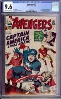 Avengers #4 CGC 9.6 cr/ow