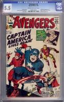 Avengers #4 CGC 5.5 cr/ow