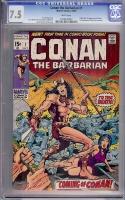 Conan The Barbarian #1 CGC 7.5 w