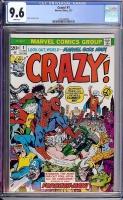 Crazy! #1 CGC 9.6 w Davie Collection