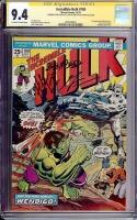 Incredible Hulk #180 CGC 9.4 ow/w CGC Signature SERIES
