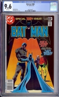 Batman #300 CGC 9.6 w Davie Collection