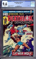 Astonishing Tales #27 CGC 9.6 w Davie Collection