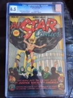 All Star Comics #10 CGC 6.5 ow