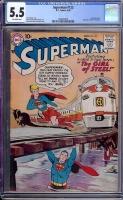 Superman #123 CGC 5.5 ow