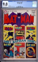 Batman #100 CGC 9.0 cr/ow Williamsport