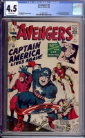 Avengers #4 CGC 4.5 ow