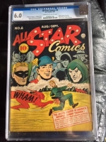 All Star Comics #6 CGC 6.0 cr/ow